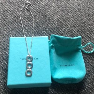 RARE Tiffany & Co. cushion square necklace